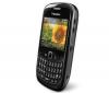 BLACKBERRY Curve 8520 černý + Silikonové pouzdro černé + Ochranná fólie  + Sluchátko Bluetooth Blue design černé