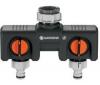 GARDENA Prepínač 2 obvody 8193-20 + Automatická navíjecka na zeď 20 roll-up 2648-20