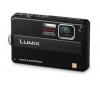 PANASONIC Lumix  DMC-FT10 - černý + Pouzdro kompaktní kožené 11 x 3,5 x 8 cm + Pameťová karta SDHC 8 GB