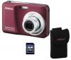 PENTAX Optio E90 vínová + pouzdro + pameťová karta SD 2 GB