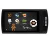 SAMSUNG Dotykový MP3 prehrávač R'mix YP-R1 16 Gb - černý + Sluchátka HOLUA S2HLBZ-SZ - Stríbrná