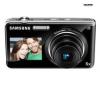 SAMSUNG ST600 - Digital camera - compact - 14.2 Mpix - optical zoom: 5 x - supported memory: microSD, microSDHC - black + Pouzdro kompaktní kožené 11 x 3,5 x 8 cm + Pameťová karta SDHC 8 GB + Baterie SLB07A