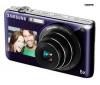 SAMSUNG ST600 - Digital camera - compact - 14.2 Mpix - optical zoom: 5 x - supported memory: microSD, microSDHC - violet + Pouzdro Kompakt 11 X 3.5 X 8 CM CERNÁ + Pameťová karta SDHC 8 GB + Baterie SLB07A + Mini trojnožka Pocketpod
