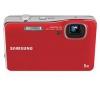 SAMSUNG WP10 - červený + Pouzdro kompaktní kožené 11 x 3,5 x 8 cm + Pameťová karta SDHC 8 GB