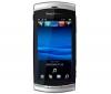 SONY ERICSSON Vivaz stríbrný + Sluchátko Bluetooth Blue design černé + Pameťová karta Micro SD HC 4 GB + adaptér SD