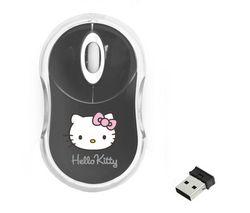 Popis BLUESTORK Bezdrátová myš Bumpy Hello Kitty - šedá + Nápln ...
